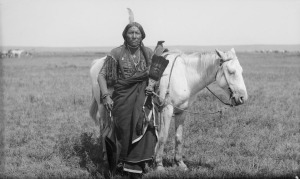 Ako,_a_Comanche_warrior_and_horse_-