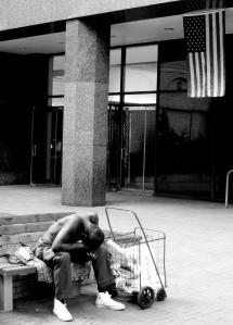 Homeless_-_American_Flag